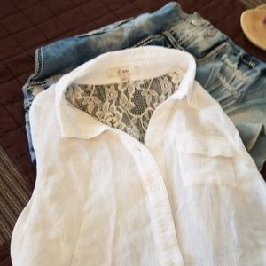 Lace back high-low top